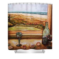 Beach Window Shower Curtain