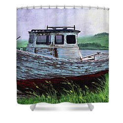 Beached At Bay Of Ayre Shower Curtain