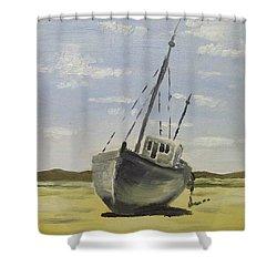 Beached At Bunbeg Shower Curtain by Alan Hogan