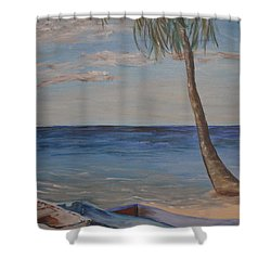 Beached Shower Curtain by Debbie Baker