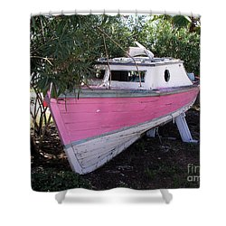 Beached Dreams At Port Canaveral Shower Curtain by Allan  Hughes