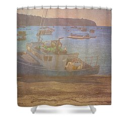 Beached For Cleaning Shower Curtain by Tom Singleton