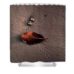 Beached Leaf Shower Curtain