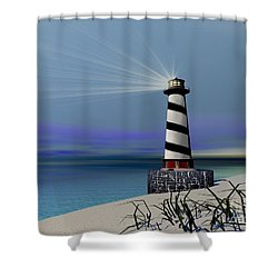 Beacon Shower Curtain by Corey Ford