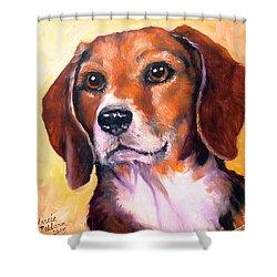 Beagle Billy Shower Curtain