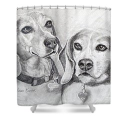 Beagle Boys Shower Curtain