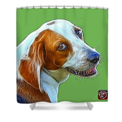 Beagle Dog Art- 6896 -wb Shower Curtain by James Ahn