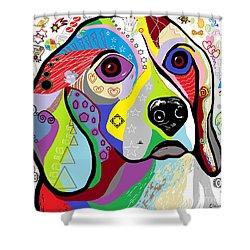 Beagle Shower Curtain by Eloise Schneider