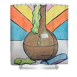 Beaker Shower Curtain by Loretta Nash