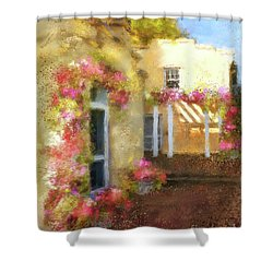 Shower Curtain featuring the digital art Beallair In Bloom by Lois Bryan