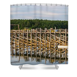 Beals Island, Maine  Shower Curtain by Trace Kittrell