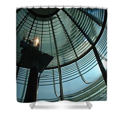 Beam Master Shower Curtain by Mark Robbins