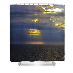 Beam Me Up Shower Curtain by Patti Whitten