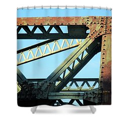 Beams And Bolts Shower Curtain
