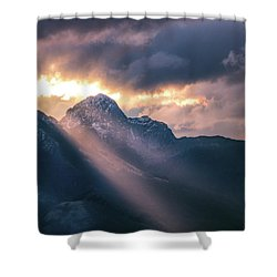 Beams Of Fire Shower Curtain
