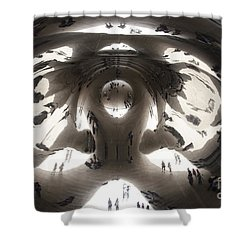 Bean Abstract No. 1 Shower Curtain