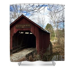 Bean Blossom Bridge, 1880 Shower Curtain by Russell Keating