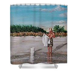 Bean Point  Shower Curtain