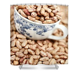 Beans In A Cup Shower Curtain by Gaspar Avila