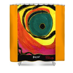 Shower Curtain featuring the painting Bear by Clarity Artists