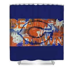 Shower Curtain featuring the painting Bear Down by Melissa Goodrich