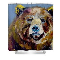Bear Exposed Shower Curtain