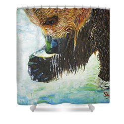 Bear Fishing Shower Curtain