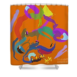 Bear  Shower Curtain by Go Van Kampen