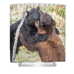 Bear Hug Shower Curtain