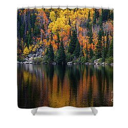 Bear Lake Autumn Reflections Shower Curtain
