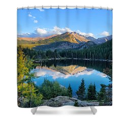 Bear Lake Reflection Shower Curtain