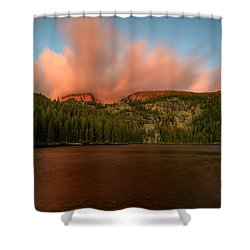 Bear Lake's Hallett Peak #1 Shower Curtain