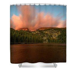 Bear Lake's Hallett Peak #1 Shower Curtain