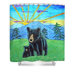 Bear Meadow Sunrise Shower Curtain by Kenny Francis