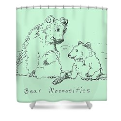 Shower Curtain featuring the drawing Bear Necessities by Denise Fulmer