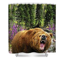 Bear Necessities Iv Shower Curtain