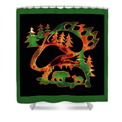 Shower Curtain featuring the photograph Emerald Bear Paw  by Larry Campbell