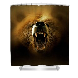 Bear Roar Shower Curtain by Lilia D