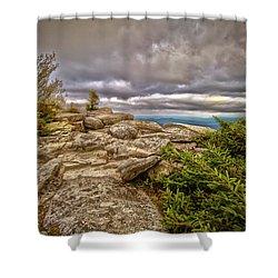 Bear Rocks Storm Shower Curtain