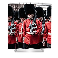 Bear Skins On Parade Shower Curtain