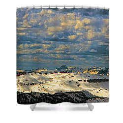 Bear Tooth Mountain Range Shower Curtain