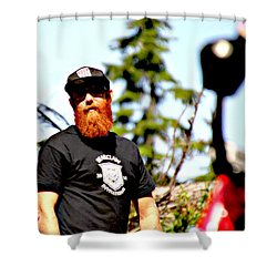 Bearclaw Fire Shower Curtain