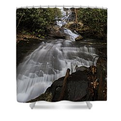 Shower Curtain featuring the photograph Bearden Falls Vertical by Barbara Bowen