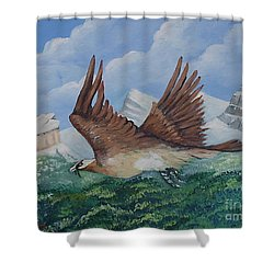 Beared Gypaete Shower Curtain