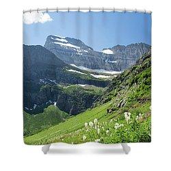 Beargrass - Grinnell Glacier Trail - Glacier National Park Shower Curtain