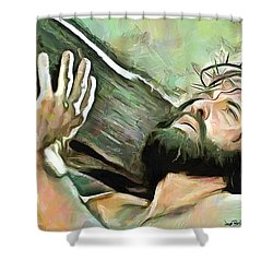 Bearing The Cross Shower Curtain