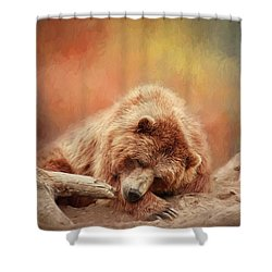 Bearly Asleep Shower Curtain