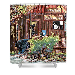 Bears At The Kaweah Post Shower Curtain by Nadi Spencer