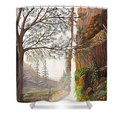 Bears At Waterfall Shower Curtain