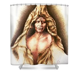 Bear's Belly Shower Curtain by Victor Minca